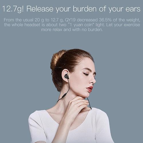 qcy qy19 audífonos ipx4 manos libres bluetooth recargables