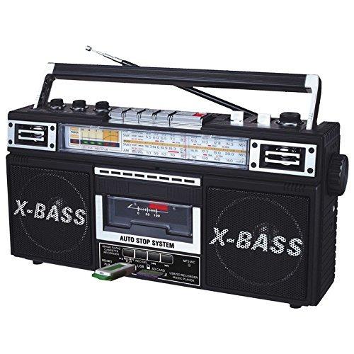 qfx radio am / fm / sw1-sw2 de 4 bandas y convertidor de ca