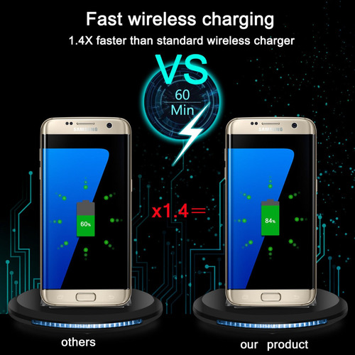 Qi Wireless Fast Charger Stand Dock Pad Para Lg G7 / G7 +