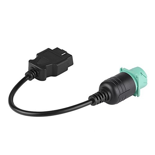 Qiilu 9 Pin to 16 Pin OBD2 Truck Diagnostic Scanner Cable