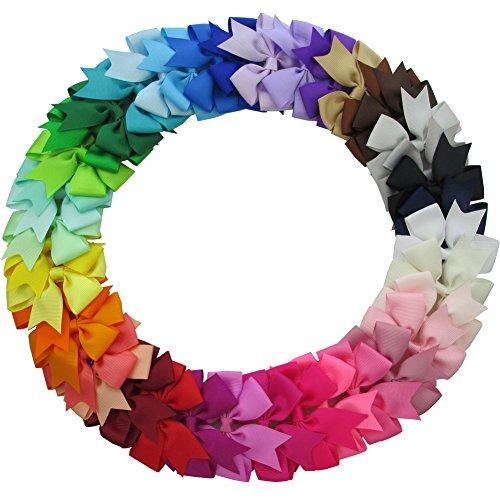 qinghan 40pcs 3 grosgrain cinta pinwheel boutique arcos pelo