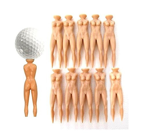 qingsun 10pcs señora desnuda desnuda tee de golf perfecto r