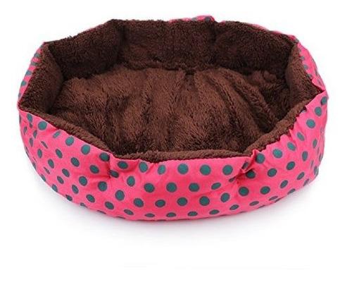 qinlee round pet cat cama para gatos y perros pequeños et