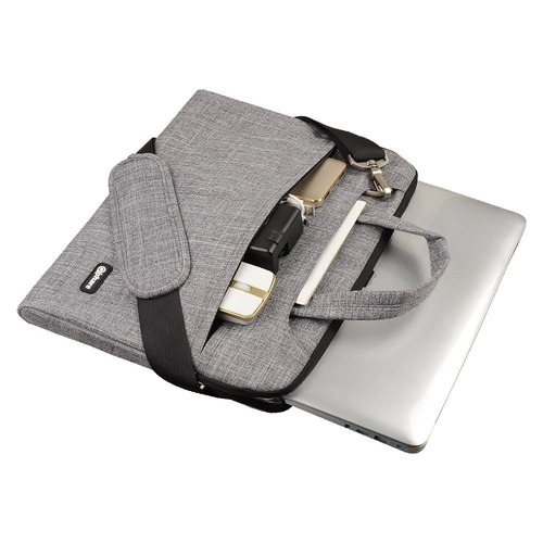 qishare 13 13.3  gray lines multi-functional business briefc