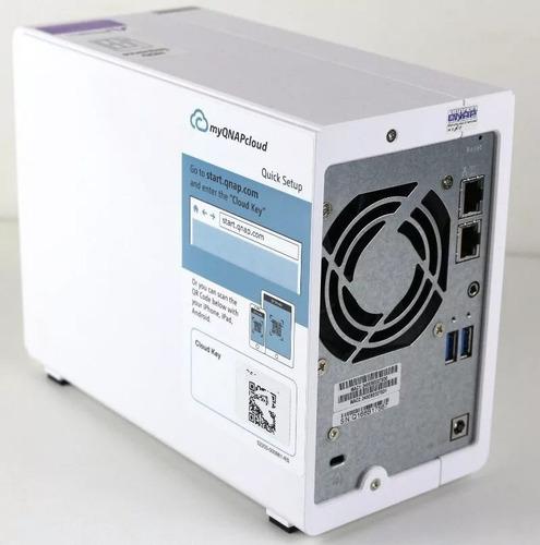 qnap ts-231p-servidor nas+ 2 discos seagate ironwolf 8 teras