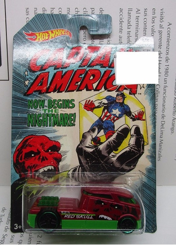qombee captain america red skull  hot wheels  w9 a3