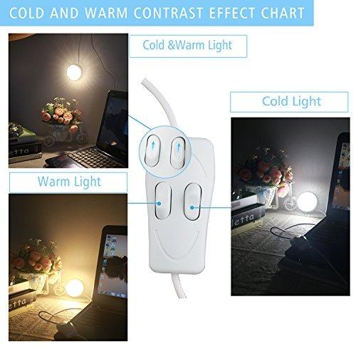 qooltek usb portátil led 28 leds lámpara magnética cama de
