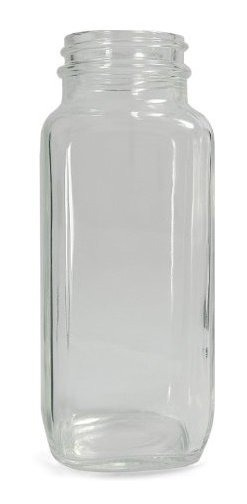 62mm Diameter x 167mm Height Case of 40 Qorpak GLA-00833 Clear Glass Wide Mouth French Square Bottle with 48-400 Neck Finish 16oz Capacity