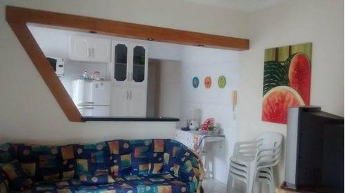 quadra da praia / mobiliado / vaga de garagem - ap0970