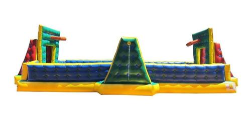 quadra de futebol de sabão 3 em 1 de 5m x 10m frete grátis