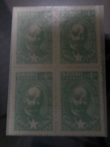 quadra de selos lazaro zamenhof autor do esperanto 1959 bras