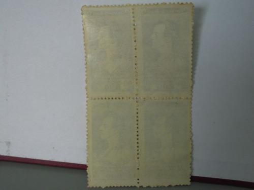 quadra - selo - centenário da morte de joão caetano - 1963