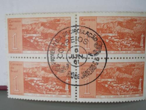 quadra - selo- vista clássica da cidade de ouro preto - 1961