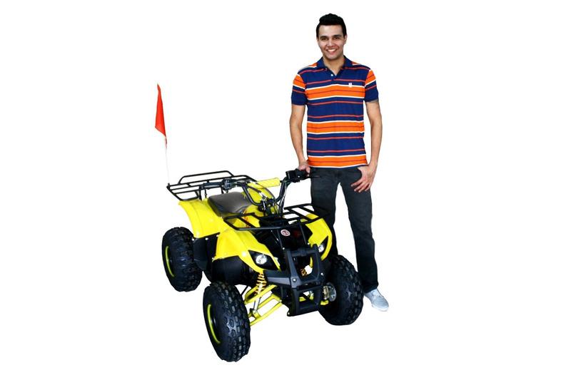 quadriciclo 125cc automático com ré bz little bull aro 8