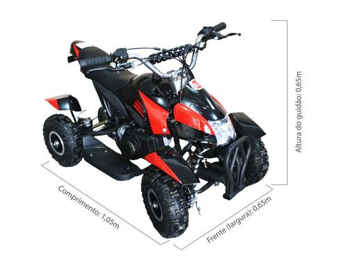 quadriciclo 49cc com partida elétrica bz bob