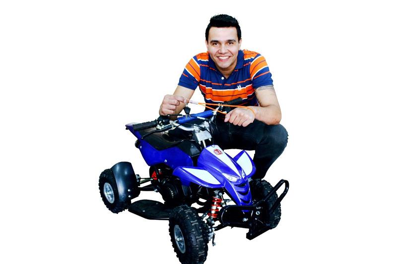 quadriciclo 49cc (preto, azul, vermelho, rosa,laranja,verde)