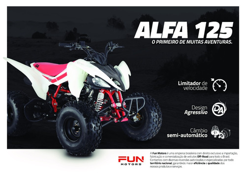 quadriciclo alfa 125cc fun motors quadri e cia off road