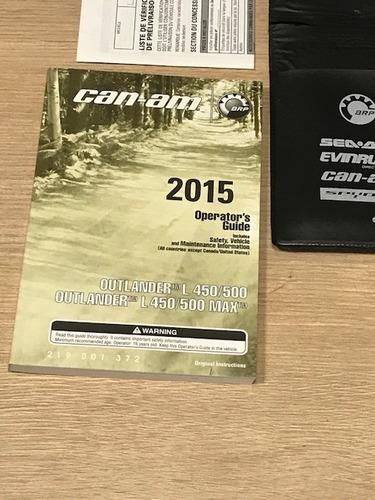 quadriciclo can am max 2 lugares revisado 2015 450 cc novo