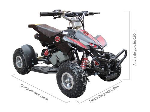 quadriciclo dino infantil à gasolina motor 2 tempos 49cc