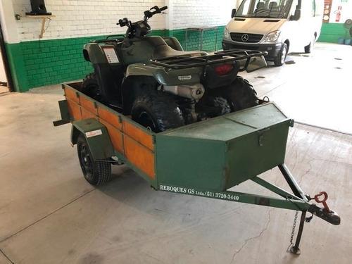 quadriciclo fourtrax 420 - com reboque