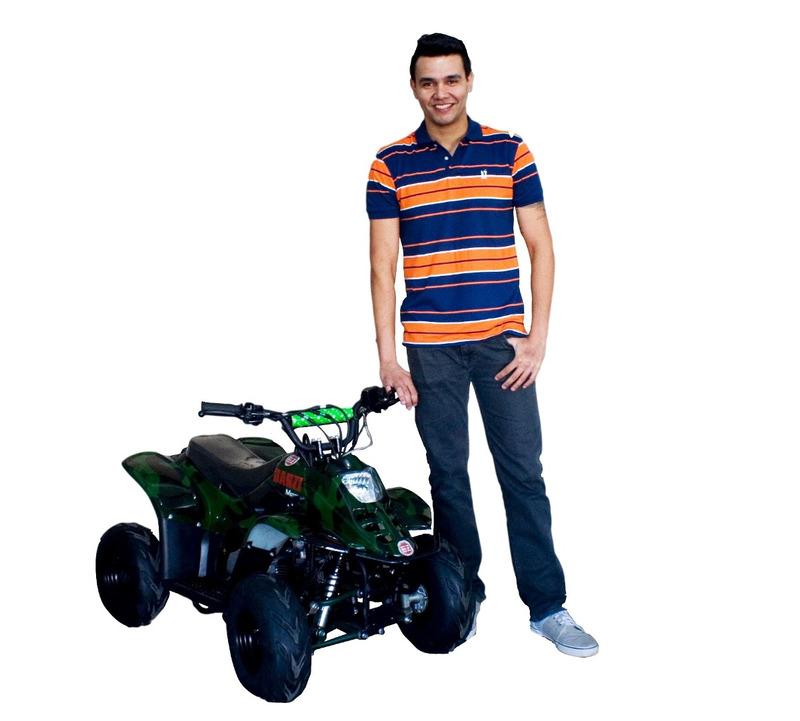 quadriciclo motor 4-tempos 110cc automático bz flash