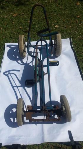 quadriciclo pedalcar antigo bela peça
