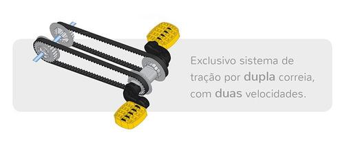 quadriciclo politractor® de pedal amarelo - 7539