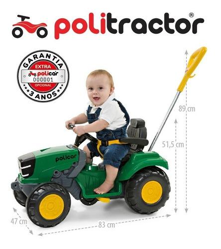 quadriciclo politractor® de pedal passeio verde - 7584