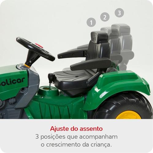 quadriciclo politractor® de pedal passeio vermelho - 7607