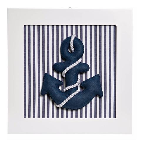 quadrinho decorado quarto bebê infantil barco marinheiro