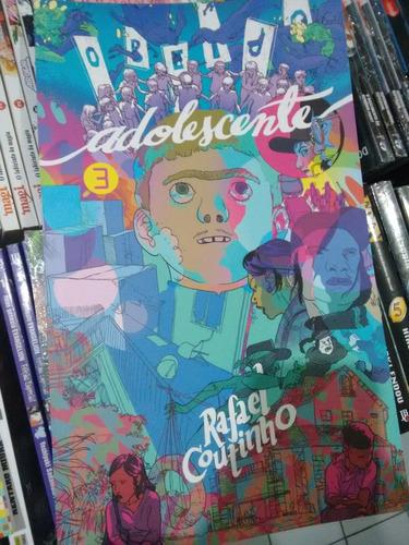 quadrinho o beijo do adolescente 3 volumes rafael coutinho
