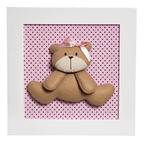 quadrinho quadro ursinha quarto bebê infantil ursa menina