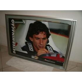 Quadro  Airton Senna Determinação Gp Canadá 1993 Coleção