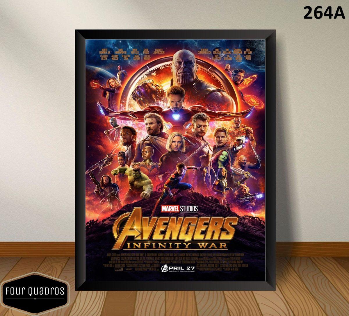 d504ee1a8de Quadro 30x42cm - Os Vingadores Guerra Infinita The Avengers - R  57 ...