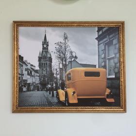 Quadro 45x56 Moldura De Madeira Tratada Folhada A Ouro