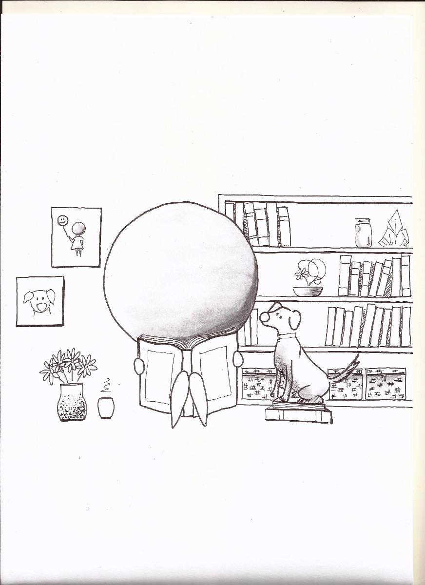 Quadro A4 Desenho Feito A Mao Menina Lendo R 25 00 Em Mercado Livre