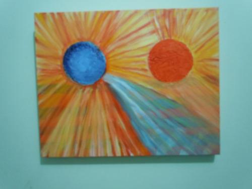 quadro abstrato alegria do sol