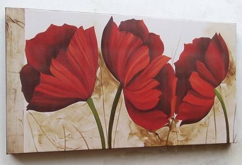 quadro abstrato floral - frete grátis para todo brasil