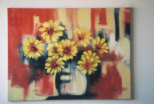 quadro           acrilica  sobre  téla   pintado  a mão