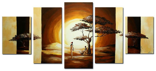 quadro africano paisagem cod 43 (181cm (l) x 80cm (a))