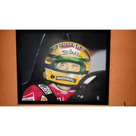 Quadro Airton Senna Pintado A Mão