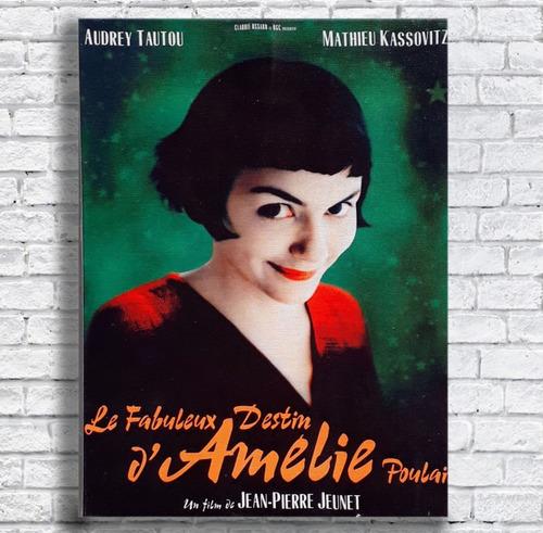 quadro amelie poulain poster impressão em tela 30x40