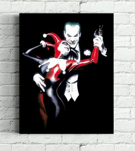 quadro arlequina & joker impresso em tela de pintura