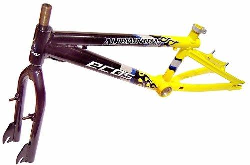 quadro aro 20 bmx ecos bikes aluminio com garfo