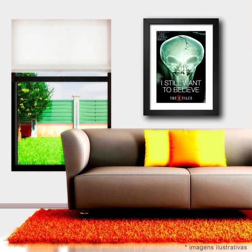 quadro arquivo x poster moldura i want to believe series tv