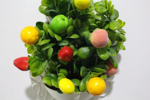 quadro / arranjo mini frutas artificiais parede cozinha