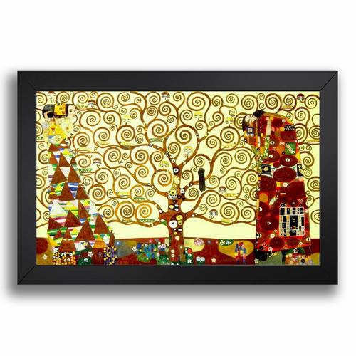 quadro arvore da vida gustav klimt 68x48cm decorativo sala