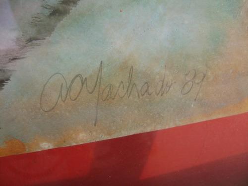 quadro assinado antigo arte abstrata