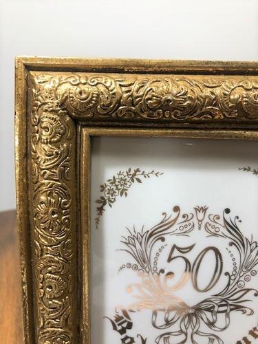 quadro balcão para bodas de ouro