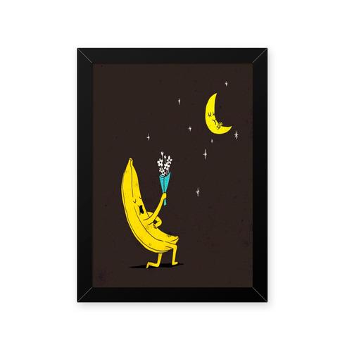 quadro banana romantica 23x33cm